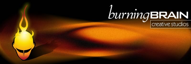Burning Brain Masthead graphic